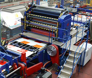 Lithography on big steel sheets