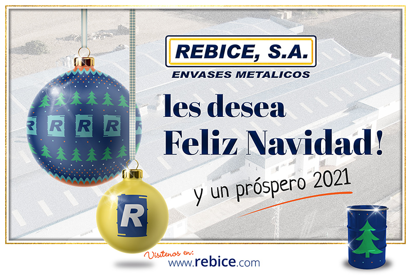 REBICE,S.A. fabricante de bidon metalico le desea Feliz Navidad